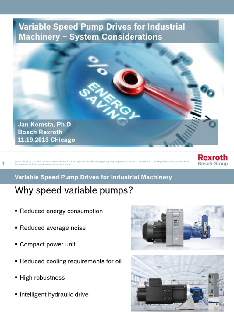Variable Speed Pump Komsta Powerpoint Presentation | Engines | Pump
