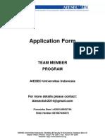 AIESEC Team Member Form