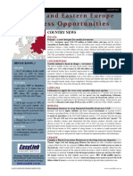 August 2013 Central Eastern Europe Business Opportunities