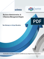 Business Administration and E-Business Management