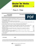 Prove Específica de Física - Dezembro 2013