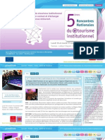 Dossier de Presse Rencontres etourisme 2009