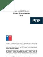 PAUTA RECERTIFICACION 2013