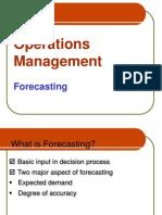 OM - Forecasting