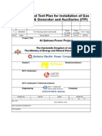 1. ITP- For Gas Turbine & Auxilliaries