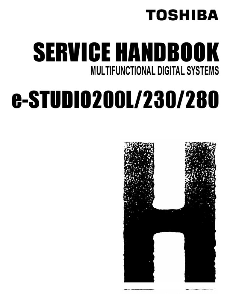 E_Studio 200L,230,280 Service Handbook | Personal Computers