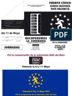 Frente Civico Somos Mayoría - Por La Recuperación de La Soberanía. Salir Del Euro. VALENCIA 9, 10 y 11 de Mayo.