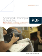 Advanced Planning and Scheduling