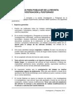Normas de La Revista Investigación y Postgrado 1