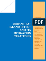 A Report on Urban Heat Island Effect