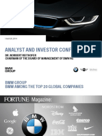 ANALYST AND INVESTOR CONFERENCE