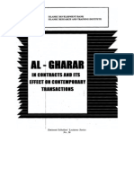 Al-gharar in Contracts & Its Effect
