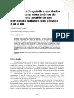 A Mudança Linguística Em Dados Documentais - Uma Análise Do Objeto Direto Anafórico Em Periódicos Baianos Dos Séculos XIX e XX
