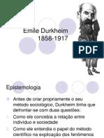 O PENSAMENTO DE Durkheim - SLIDES.ppt