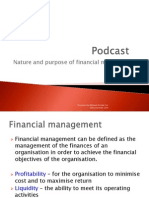 Podcast Scope of Fin Mgt