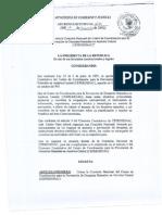 Decreto Ejecutivo 402 CEPREDENAC