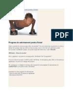 Program de Antrenament Pentru Flotari