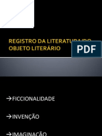 Estatuto Do Objeto Literario