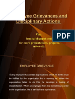 Employee Grievances Discipline and Counseling Ppt