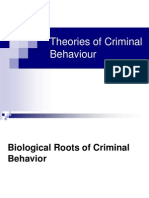 Psychology and Criminal Behaviour Theories1