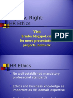 Human Resource Ethics - Ppt