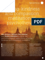 loving Kindness and Compassion Meditation in Psychotherapy
