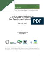 Oportunidades de Acceso a Mercados de La Lechería Argentina BID