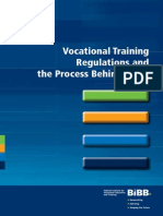 Vocational Training Regulations and the Process Behind Them