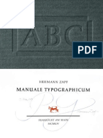 Manuale Typographicum by Hermann Zapf