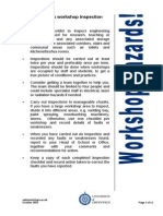 Workshop Inspection Checklist October 2010