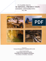 Gypsum Mining, Production, Processing and Marketing