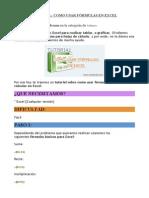Tutorial Excel Usar Fórmulas