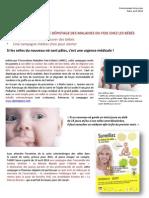 Communiqué de presse l'alerte jaune, campagne nationale dépistage des maladies du foie chez les bébés