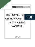 Instrumentos de Gestion Ambiental Local a Nivel Nacional