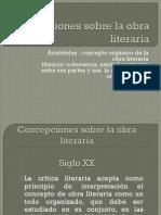 Concepciones Sobre La Obra Literaria