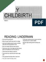 week 5 - early childbirth