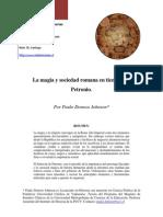08 Paulo Donoso La Magia y La Sociedad Romana en Tiempos de Petronio