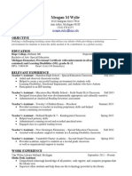 meagan wylies education resume