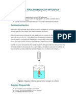 Principio de Arquimedes Con Interfax