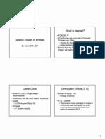 Seismic Design Bridges