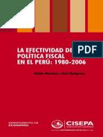 La Efectividad de La Política Fiscal - Waldo Mendoza