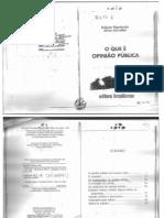 o Que é Opinião Publica-rubens Figueiredo e Silvia Cervellini