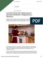 Las Diez Claves Del Cambio Para El Personal Doméstico_ Obligaciones y Derechos