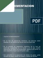 SEDIMENTACION presentacion