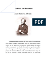 Alberdi, Juan Bautista - Predicar en Desiertos
