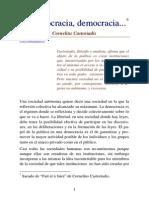 Castoriadis, Cornelius - Democracia, Democracia