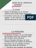 Derecho Romano.ii. La Persona.
