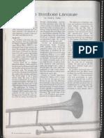solo trombone literature