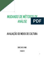 Avaliação de Meio de Cultura - Dirce Yano
