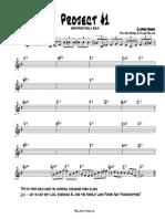 Jazz Improvisation Project 1 - Bb Part
